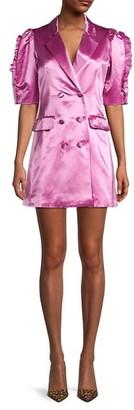 Cynthia Rowley Mini Cotton & Silk-Blend Blazer Dress