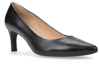 Geox Bibbiana Leather Pointed Toe Pump