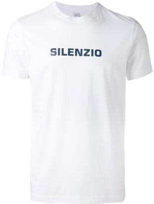 Aspesi 'Silenzio' print T-shirt