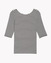Theory Back Scoop Neck Stripe Tee