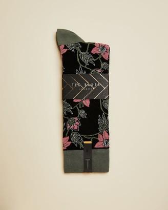 Ted Baker Floral Cotton Blend Sock