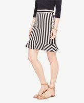 Ann Taylor Tall Striped Flounce Skirt
