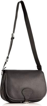 Richmond David Hampton Leather Sophie Saddle Bag In Slate Grey
