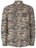 Topman Camo Print Overshirt
