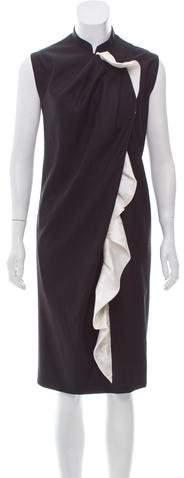 David Szeto Wool Midi Dress