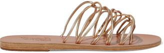 Ancient Greek Sandals Rodopi Metallic Leather Slides