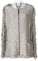Sonia Rykiel fringed tweed cape