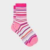 Paul Smith Women's Pink Multi-Stripe Socks