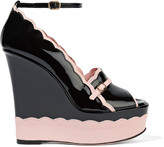 RED Valentino Patent-leather wedges
