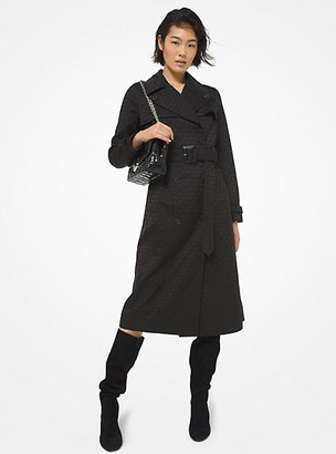 Michael Kors Logo Jacquard Trench Coat
