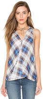 Bishop + Young Sleeveless Plaid Blouse