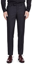 The Kooples Pique Shiny Wool Slim Fit Trousers
