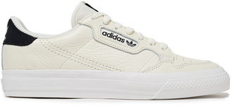 adidas Continental Suede-trimmed Perforated Textured-leather Sneakers