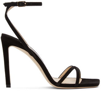 Jimmy Choo Black Metz 100 Heeled Sandals