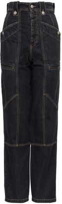 Etoile Isabel Marant High-Waisted Straight Leg Jeans