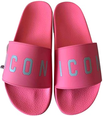 DSQUARED2 Pink Rubber Sandals