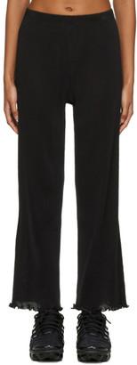 PRISCAVera Black Seamless Pleated Lounge Pants