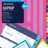 Filofax Illustrated Stripe Week On 2 Pages 2018 Diary Pack