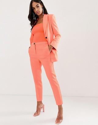 Asos DESIGN fluro pink slim suit pants