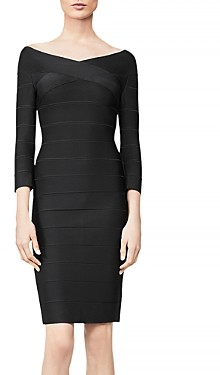 Herve Leger Icon Portrait Mini Dress