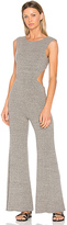 Enza Costa Rib Wrap Jumpsuit in Gray