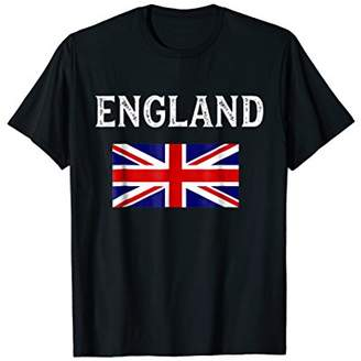 England T-Shirt with British Flag Union Jack