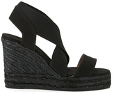 Castaner Women's Bernard Strappy Espadrille Wedged Sandals Black