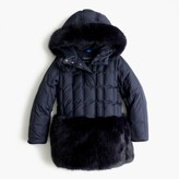 J.Crew Girls' faux-fur puffer parka