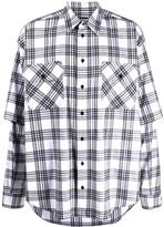 Balenciaga checked double sleeve shirt