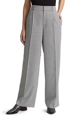Club Monaco Microcheck Wide-Leg Pants