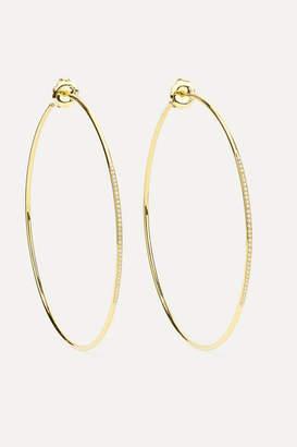 Ippolita Glamazon Stardust 18-karat Gold Diamond Hoop Earrings