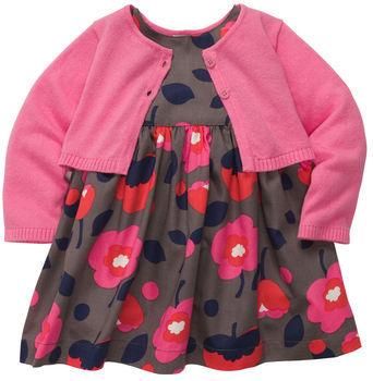 Carter's 3-Piece Cardigan Dress Set