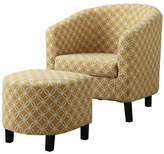 Monarch Circular Print Accent Chair and Ottoman