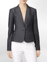 Calvin Klein Chambray Suit Jacket