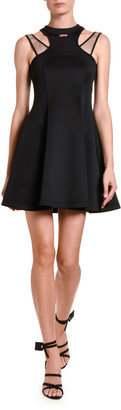 Off-White Jersey Double-Strapped Fit & Flare Dress