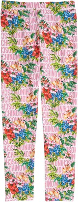 Moschino Kids' Floral Logo Print Leggings