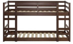 Walker Edison Low Wood Twin Bunk Bed