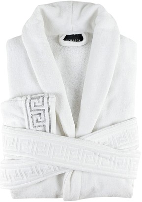 Versace Medusa Crystal Cotton Bathrobe