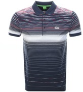 BOSS GREEN Paddy 3 Polo T Shirt Navy