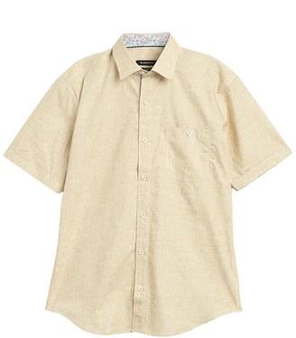 Bugatchi Solid Short Sleeve Shaped Dress Shirt