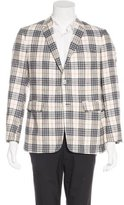 Black Fleece Wool & Silk Plaid Sport Coat