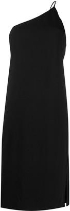 Acne Studios Asymmetric Neck Midi Dress