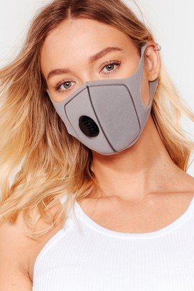 Nasty Gal Womens Neoprene There Done That Fashion Face Mask - Grey - One Size