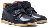 Kickers Navy Leather Adlar Twin Velcro Boots