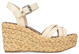 Sam Edelman Darline Leather Platform Wedge Espadrilles