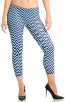 Dinamit Jeans Plus Size Blue and Yellow Chevron Arrow Ankle Leggings
