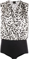 Pinko Ines animal-print bodysuit