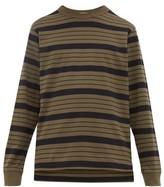 Raey Long-sleeved Striped Cotton-jersey T-shirt - Mens - Black Stripe