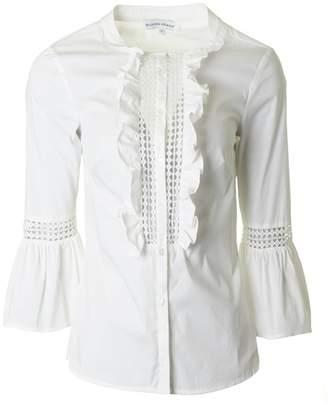 Silvian Heach Frill Placket Shirt Colour: WHITE, Size: XS