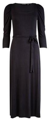 Dorothy Perkins Womens Black Square Neck Midi Dress, Black